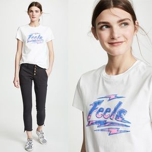 PAM & GELA Feels Good Basic Logo Tee NWT XS